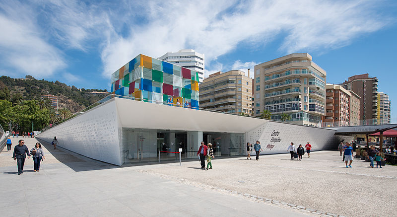 Centre Pompidou at Muelle Uno in Málaga, Spain. Credit: CC/Epizentrum