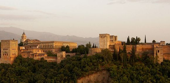 The Alhambra (The Red) in the evening light, Granada, Spain